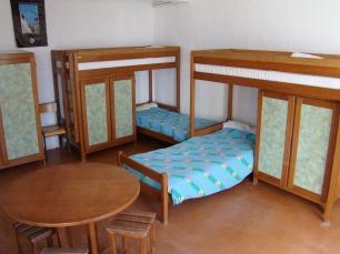 Une des 25 chambres du centre