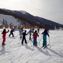 Course ski de fond