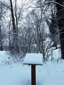 Panneau sentier - neige