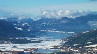 Pont de Savines sous la neige