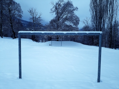 terrain de foot - neige